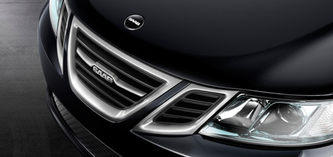 Bilfront Saab svart