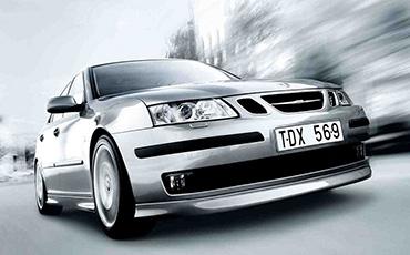 Saab silver metallic